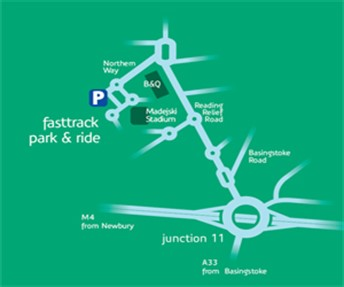 Park -Ride -Madejski -Location