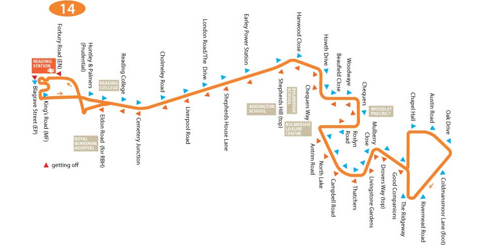 TR Live - Bus Service 14 Chapel Hill Bus Route Map on