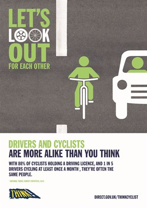 THINK CYCLIST Poster
